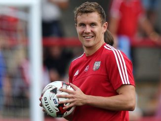 FOOTBALL: Andreas Bjelland (Brentford) during warm up before the Sky Bet Championship match between Brentford FC and Ipswich Town FC at Griffin Park on August 8, 2015 in Brentford, London, England. Photo by: Claus Birch. DENMARK ONLY.